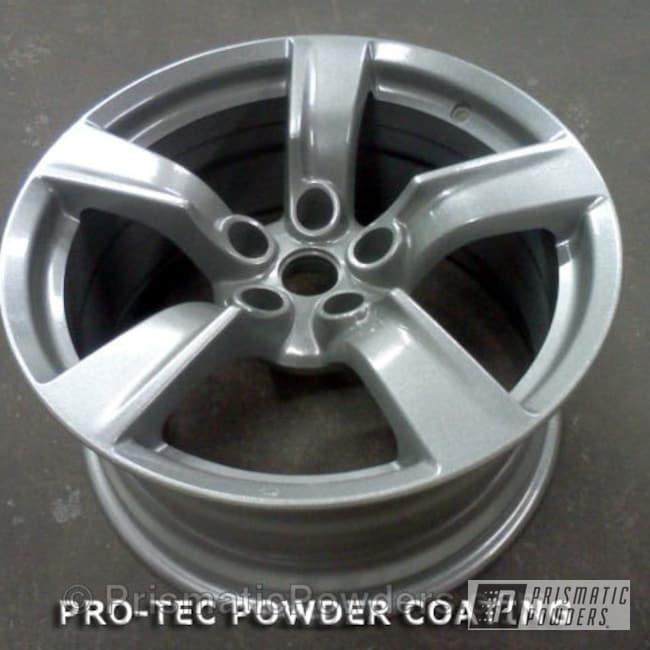 """Powder Coating: Wheels,17"""" Wheel Silver Oar,Clear Vision PPS-2974,Silver Oar PMS-2899"""