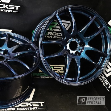 Powder Coated Custom 18 Inch Rims In Ppb-5729 And Pss-0106