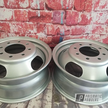 Powder Coated 17 Inch Steel Wheels In Pms-0517