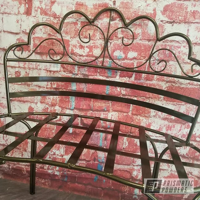 Powder Coating: Patio Furniture,Bench,Bronze Chrome PMB-4124,Outdoor Furniture,Love Seat