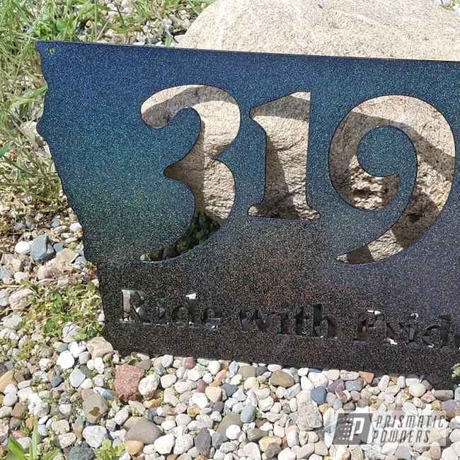 Powder Coating: City Lights PMB-2689,Sign,Motorcycles,Custom Sign,Metal Signs
