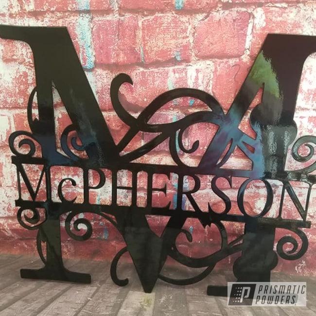 Powder Coating: Metal Art,Name Sign,Ink Black PSS-0106,Custom Sign,Metal Sign