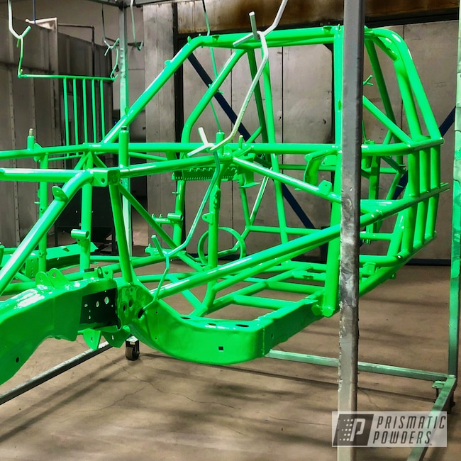 Powder Coating: Automotive,Race Car Frame,Race Car,Neon Green PSS-1221,Race Car Chassis