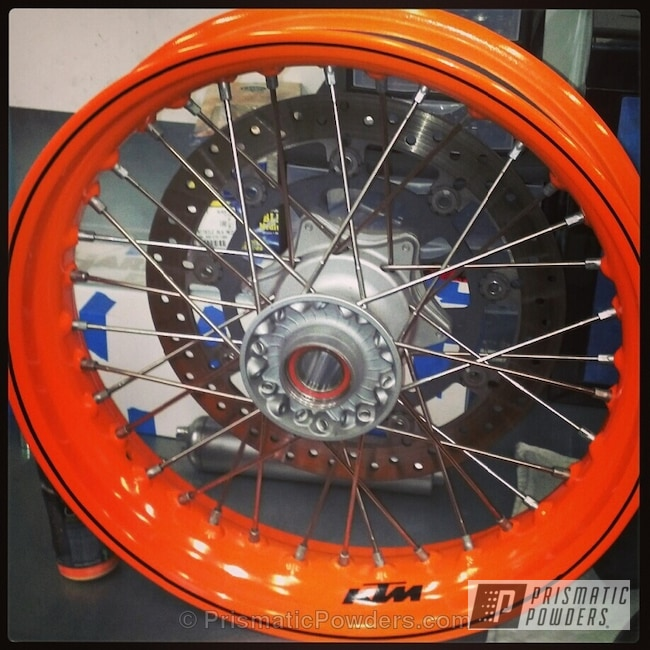 Powder Coating: Wheels,KTM Wheels,Motorcycles,Bright Orange PSS-0879