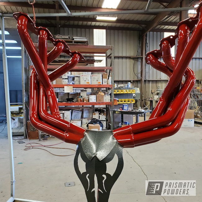 Powder Coating: Automotive,Clear Vision PPS-2974,Exhaust,Illusion Cherry PMB-6905