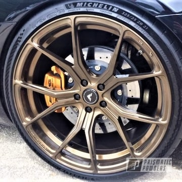 Powder Coated 22 Inch Mercedes Benz Wheels In Pps-2974 And Pmb-4124