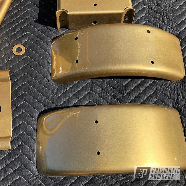 Powder Coating: Mini Bike,Automotive,Clear Vision PPS-2974,Hornet,Minibike,Gold,Spanish Gold EMS-0940
