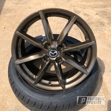 Powder Coated Mazda Miata 16 Inch Wheels In Pps-2974 And Umb-4548