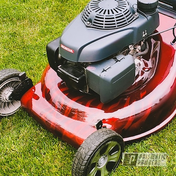 Powder Coated Lawn Mower Flame Job In Pms-4515 And Pps-2974
