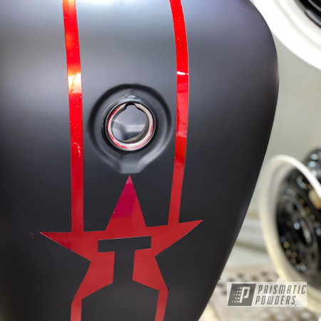 Powder Coating: Automotive,Fuel Tank,Clear Vision PPS-2974,Honda Motorcycle,Ink Black PSS-0106,shaddow,Motorcycles,Casper Clear PPS-4005,RACING RED UPB-6379,Honda Shadow