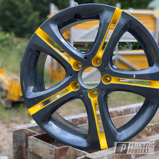 "Powder Coating: Wheels,Automotive,Evo Grey PMB-5969,Clear Vision PPS-2974,18"",Mercedes Benz,18"" Wheels,Yes Yellow PSS-5691"