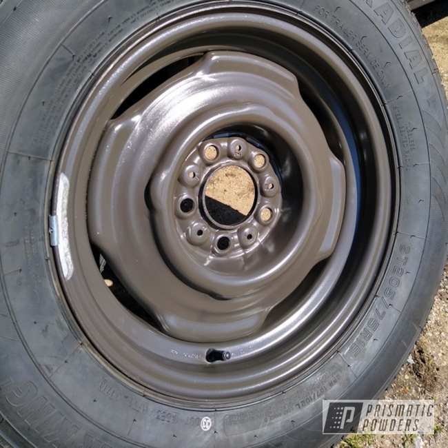 Powder Coated 15 Inch Mobile Trailer Wheels In Pss-6728
