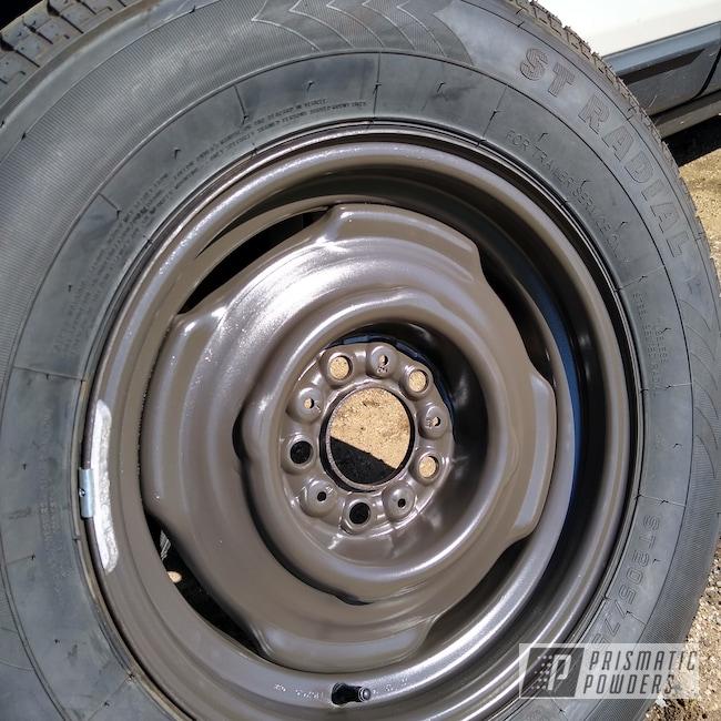 """Powder Coating: Wheels,Automotive,15"""" Steel Wheels,Brown Haze PSS-6728"""
