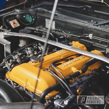 Powder Coating: Rocker Covers,Automotive,Nissan,Dijon Yellow PSS-5401