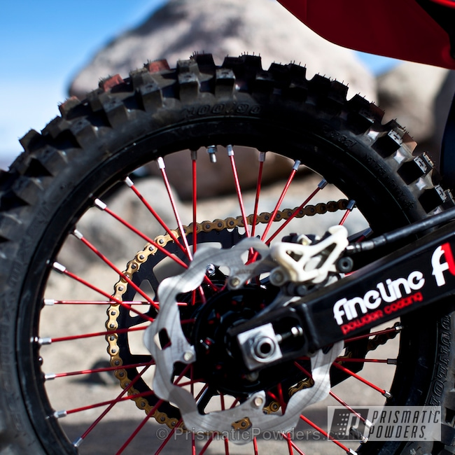 Powder Coating: 2002 CR125 Honda,Hard Red PSS-5394,Black,Ink Black PSS-0106,Red,Off-Road,CR125 Rebuild,Motorcycles