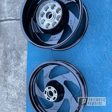 Powder Coated Refinished Motorcycle Rims In Pss-0106