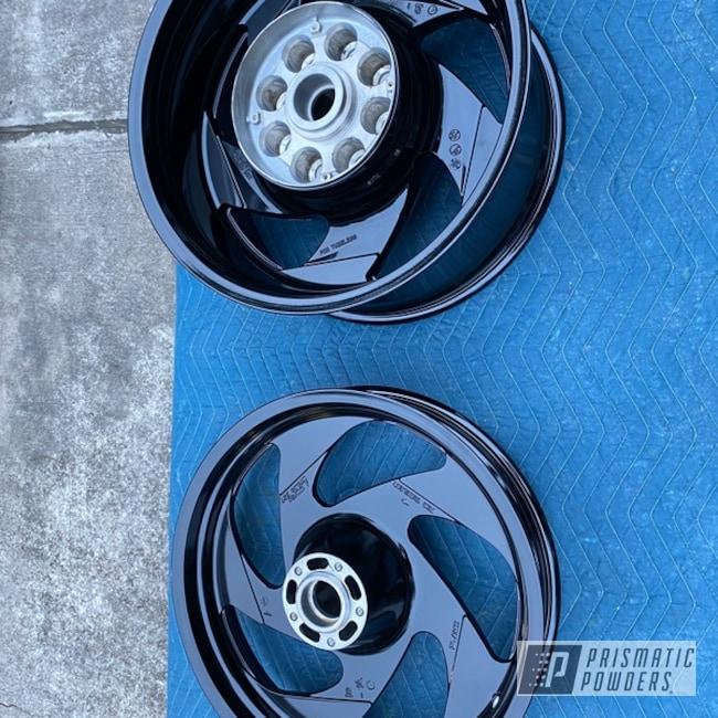 "Powder Coating: Wheels,19"" Wheels,19"",Automotive,Ink Black PSS-0106,Motorcycles,15"" Wheel"