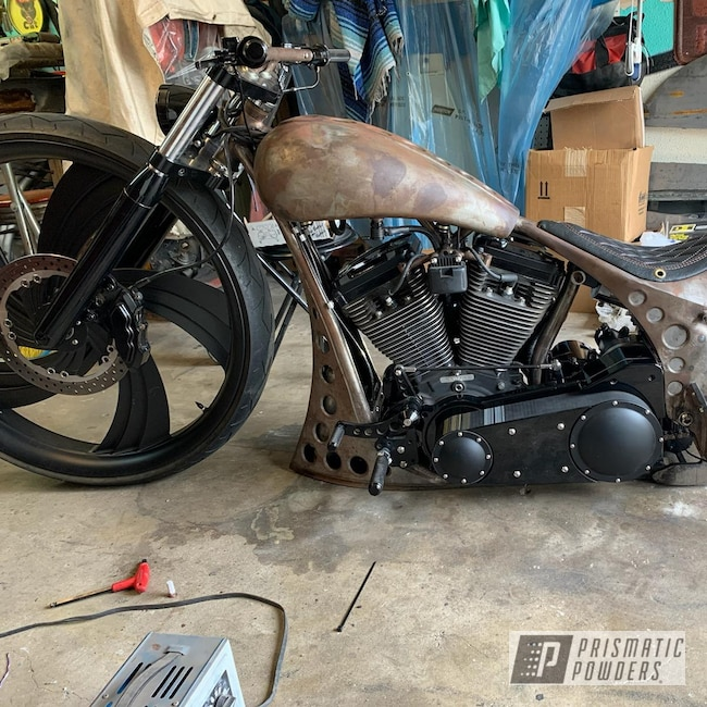 Powder Coating: Automotive,BLACK JACK USS-1522,Ink Black PSS-0106,Motorcycles