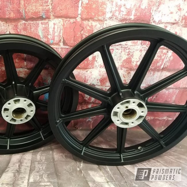 Powder Coating: Wheels,Automotive,Harley Davidson,BLACK JACK USS-1522,Motorcycle Rims,Harley Rims,Aluminum Rim