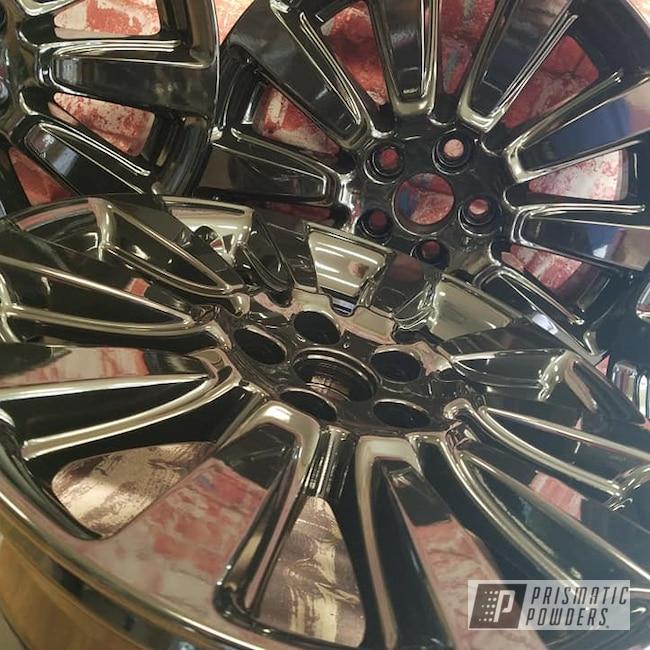 "Powder Coating: Wheels,Automotive,Ink Black PSS-0106,18"" Rims,Aluminium Rims,18"" Aluminum Wheels"