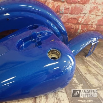 Powder Coated Motorcycle Restoration Project