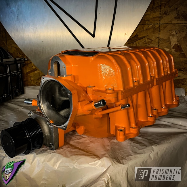 Powder Coating: Automotive,Ford Supercharger,Twister Orange,gt500,Car Parts,Ford,RAL 2003 PastelOrange,Mustang,Supercharger
