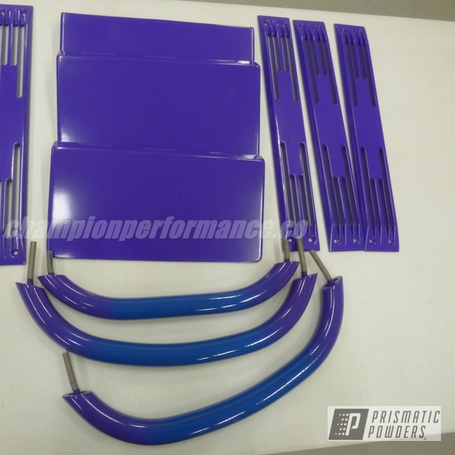 Powder Coating: Cigarette,Boat Parts,Sinbad Purple PSS-1676,RAL 5001 Green Blue
