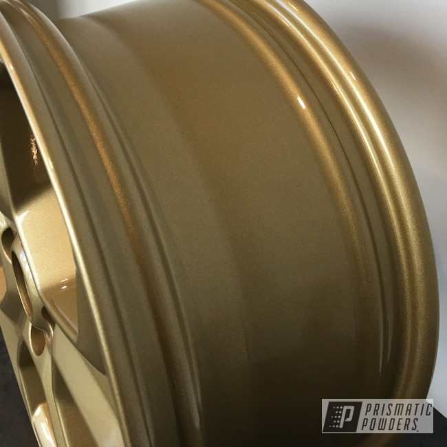 "Powder Coating: Wheels,Automotive,18"",Walts Gold PMB-4053,18"" Wheels,Ford,Ford Fiesta"