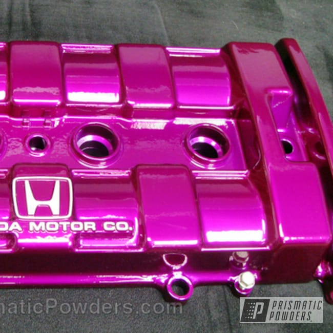 Powder Coating: Custom,Automotive,Clear Vision PPS-2974,Honda,Purple,powder coating,powder coated,Prismatic Powders,Illusion Violet PSS-4514,Valve Cover