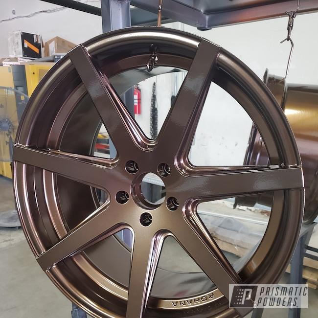 "Powder Coating: Wheels,Automotive,Custom Rim,Clear Vision PPS-2974,18"",18"" Rims,Super Rootbeer PMB-6335"
