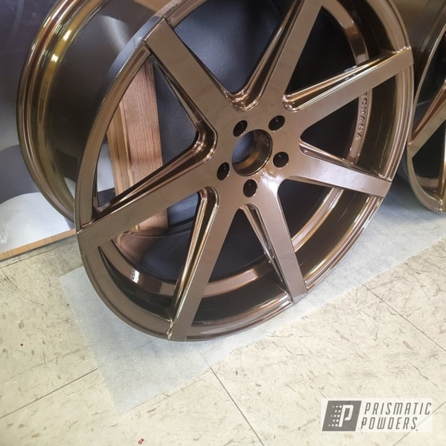 Powder Coated Set Of 18 Inch Rims In Pps-2974 And Pmb-6335