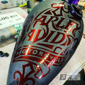 Powder Coated Custom Motorcycle Tank