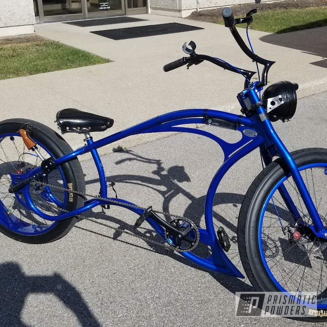 Powder Coating: Bicycles,Custom Bicycle,LOLLYPOP BLUE UPS-2502,Custom Bicycle Frame