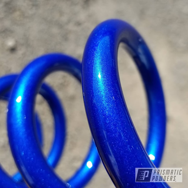 Powder Coating: Automotive,Cheater Blue PPB-6815,Springs,Alien Silver PMS-2569,Car Parts,Suspension