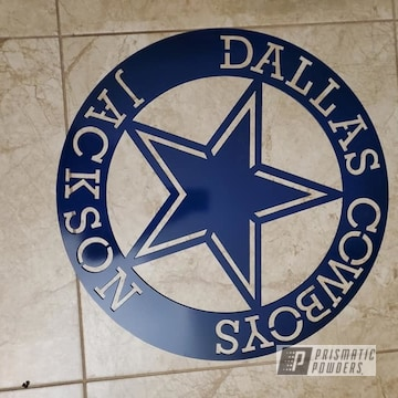 Powder Coated Custom Metal Dallas Cowboys Sign In Pss-1126