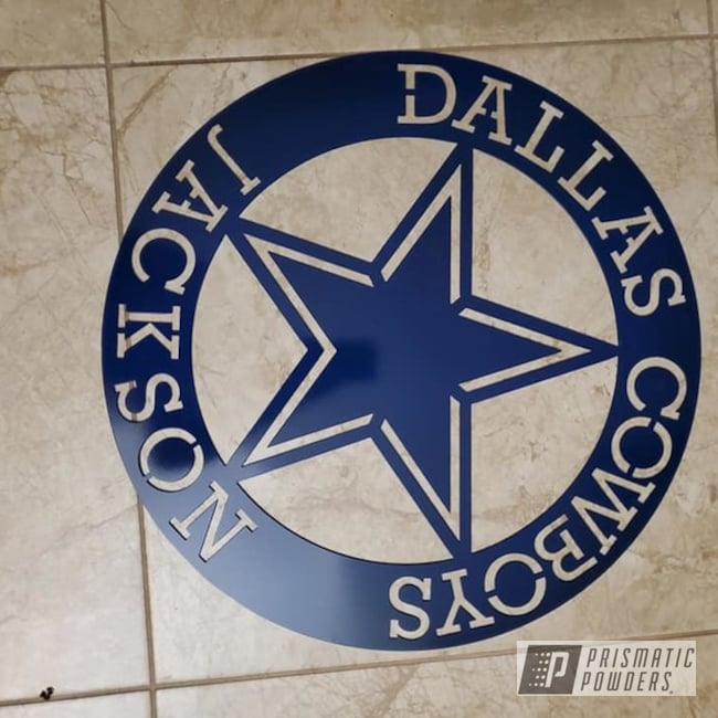 Powder Coating: Dallas Cowboys,Truck Blue PSS-1126,NFL Football,Miscellaneous,Metal Sign