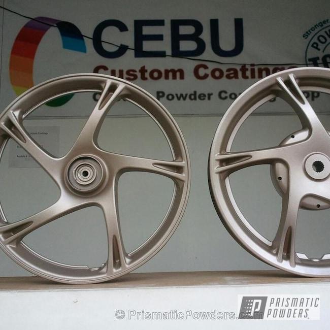 Powder Coating: Wheels,Custom,National Gold PMB-5679,powder coating,powder coated,Prismatic Powders,National Gold on Bike mags