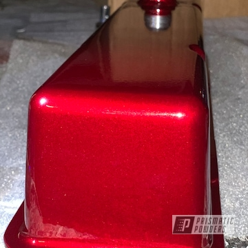 Powder Coated Cherry Red Turbo Housing And Valve Cover