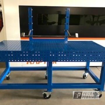 Powder Coated Metal Industrial Table In Ral 5017
