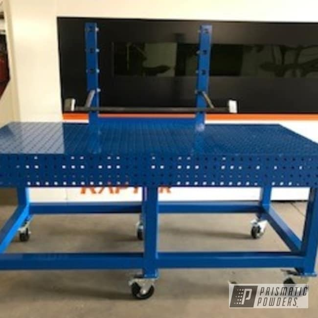 Powder Coating: RAL 5017 Traffic Blue,Table,Industrial