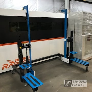 Powder Coated Refinished Industrial Lift Station In Ral 5017