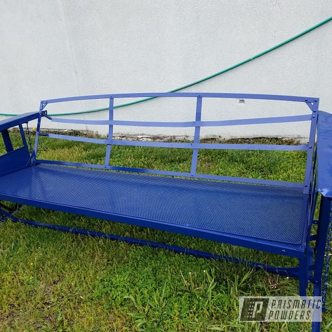 Powder Coating: Patio Furniture,Patio Glider,RAL 5003 Sapphire Blue,Yard Furniture,Park Bench