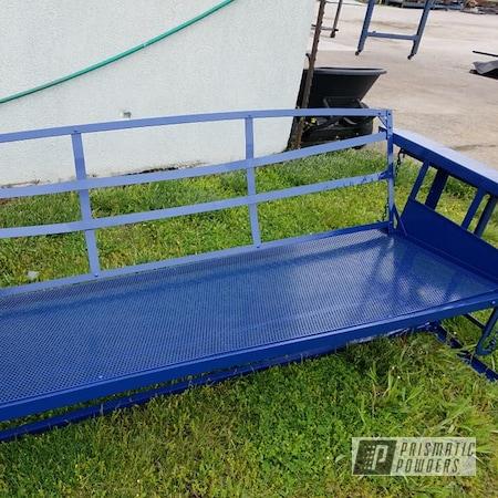 Powder Coating: Patio Furniture,Patio Glider,RAL 5003 Sapphire Blue,Yard Furniture,Park Bench