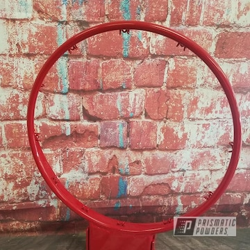 Powder Coated Refinished Basketball Hoop In Ral 3002