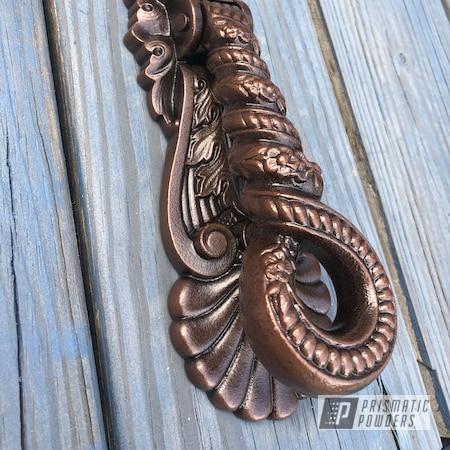 Powder Coating: Knocker,Antique Bronze PMB-6495,Hardware,Satin Poly Gold PMB-6487,Door Hardware