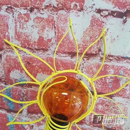 Powder Coating: Yard Art,RAL 1016 Sulfur Yellow,Outdoor Decor,Yard Decor
