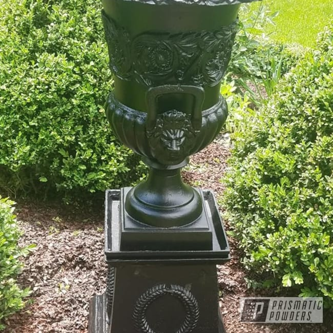 Powder Coating: Outdoor Vase,BLACK JACK USS-1522,Vintage,Vintage Planter,Outdoor Planter,Vintage Vase