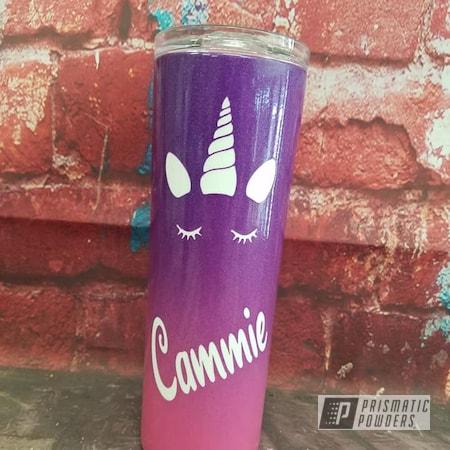 Powder Coating: Custom Powder Coat,Rainbows,Clear Vision PPS-2974,Multi Color,HOGG,RAL 3004 Purple Red,Hogg Skinny 20oz Tumbler,Unicorns,Custom Tumbler,VIOLET SPARKLE UPB-5233