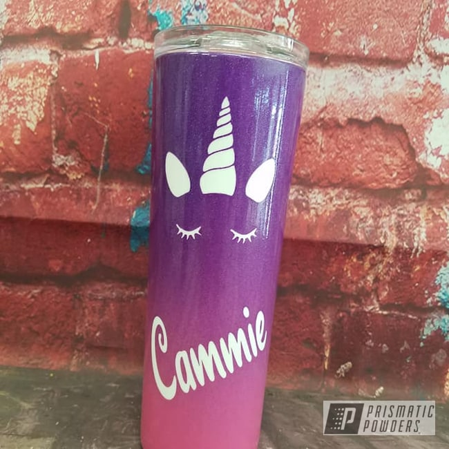 Powder Coating: Custom Powder Coat,Rainbows,Clear Vision PPS-2974,Multi Color,HOGG,RAL 3004 Purple Red,Hogg Skinny 20oz Tumbler,Unicorns,Custom Tumbler,VIOLET SPARKLE UPB-5233
