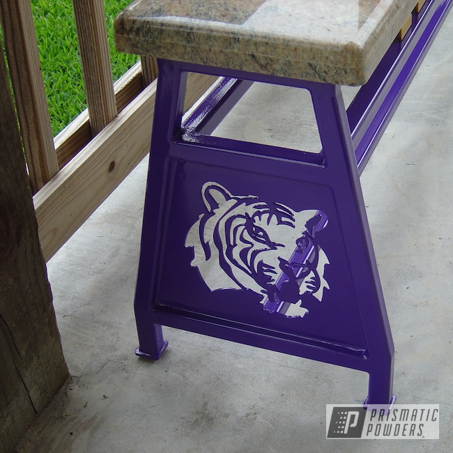 Powder Coating: Bench,purple,Sinbad Purple PSS-1676,Furniture